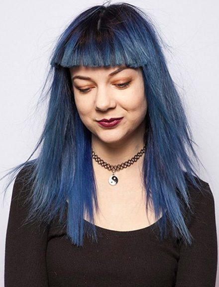 Blue Denim Hair