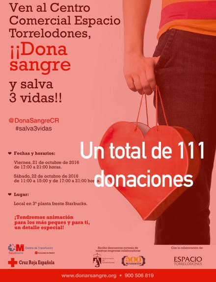 ¡Dona sangre y salva 3 vidas!