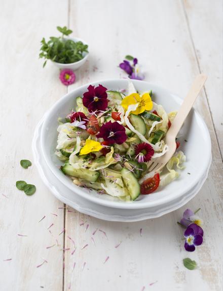 Flores comestibles en tu dieta