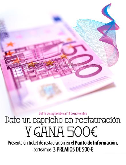 Date un capricho en restauración y gana 500 euros
