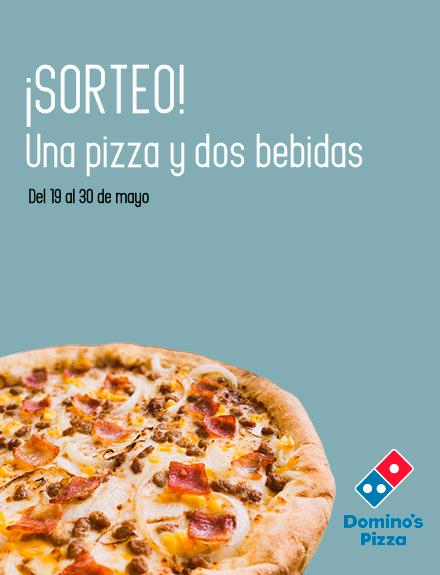 sorteo pizza más bebida domino's